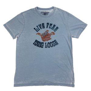 Lucky Brand Thin XL T-Shirt Live Free HANG LOOSE